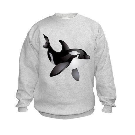 Friendly Orca Kids Sweatshirt