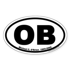 "Michael O'Brien ""OB"" Euro Oval Decal"