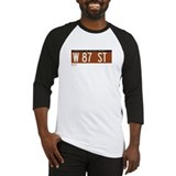 87th Street in NY Baseball Jersey