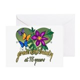 Beautiful 75th Greeting Card