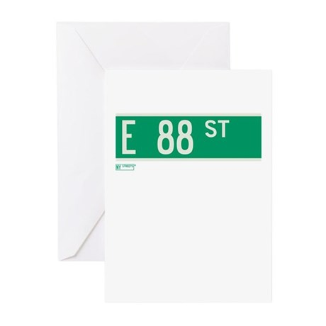 88th Street in NY Greeting Cards (Pk of 10)