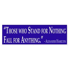 Hamilton Quote (bumper sticker)