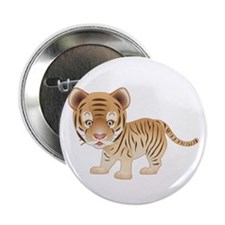 "Cuddly Baby Tiger 2.25"" Button"