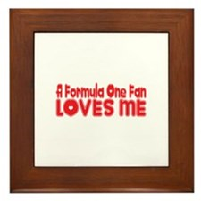 A Formula One Fan Loves Me Framed Tile