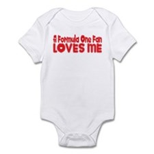 A Formula One Fan Loves Me Infant Bodysuit