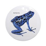 Blue Poison Frog Ornament (Round)