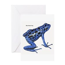 Blue Poison Frog Greeting Card