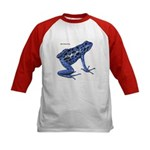 Blue Poison Frog (Front) Kids Baseball Jersey