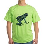Blue Poison Frog (Front) Green T-Shirt