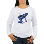 Blue Poison Frog (Front) Women's Long Sleeve T-Shi