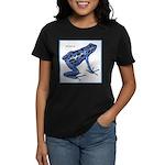 Blue Poison Frog (Front) Women's Dark T-Shirt