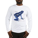 Blue Poison Frog (Front) Long Sleeve T-Shirt
