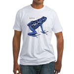 Blue Poison Frog (Front) Fitted T-Shirt