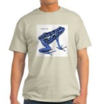 Blue Poison Frog (Front) Light T-Shirt