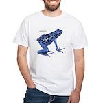 Blue Poison Frog White T-Shirt