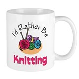 I'd Rather Be Knitting Small Mug