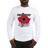 Free Kosovo Long Sleeve T-Shirt