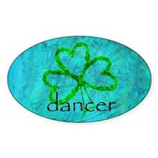 Shamrock Dancer Oval Bumper Stickers