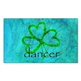 Shamrock Dancer Rectangle Decal