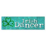 Shamrock Dancer Bumper Car Sticker