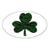 Shamrock Dancer Oval Decal