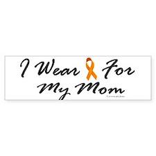 I Wear Orange For My Mom 1 Bumper Bumper Sticker