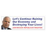 McCain - Republican Traditional Bumper Sticker