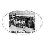 Zoot Suit Oval Sticker