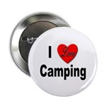 I Love Camping Button