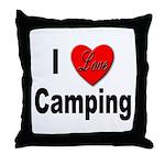 I Love Camping Throw Pillow