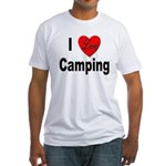 I Love Camping (Front) Fitted T-Shirt