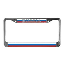 Russia Russian Flag New Design License Plate Frame