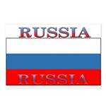 Russia Russian Flag New Design Postcards (Package 