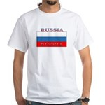 Russia Russian Flag New Design White T-Shirt