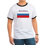 Russia Russian Flag New Design Ringer T