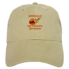 Fireballs Are A Wizards Best Friend Baseball Cap