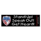 Speak Out To PROTECT Kids Bumper Car Sticker