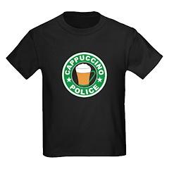 Cappuccino Police Kids Dark T-Shirt