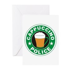 Cappuccino Police Greeting Cards (Pk of 20)