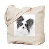 Papillon Headstudy Tote Bag