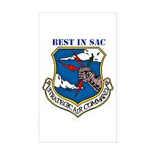 SAC - Strategic Air Command Rectangle Decal