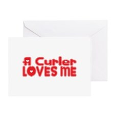 A Curler Loves Me Greeting Card