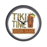 Tiki Time on Sanibel - Wall Clock