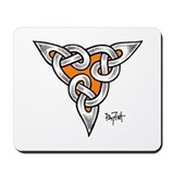 Orange Triple Happiness Knot Mousepad