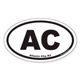 Atlantic City AC Euro Oval Decal