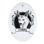 Corgi Oval Ornament