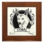 Corgi Framed Tile