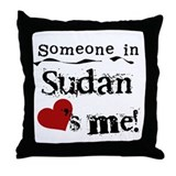 Sudan Loves Me Throw Pillow