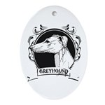 Greyhound Oval Ornament