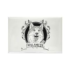 Malamute Rectangle Magnet (100 pack)